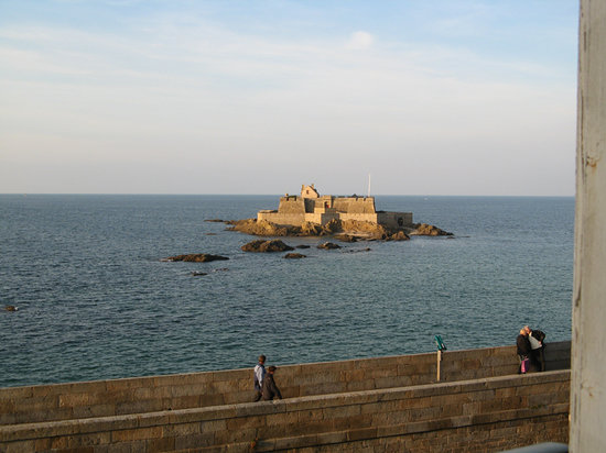 Saint-Malo, France: view from room at high tide
