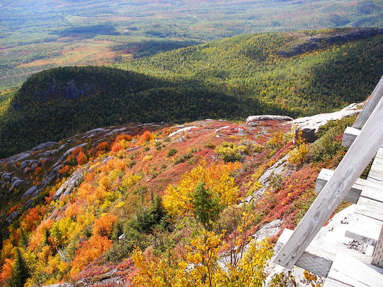 Quebec, Canad: On top of the Mont du Lac Des Cygnes