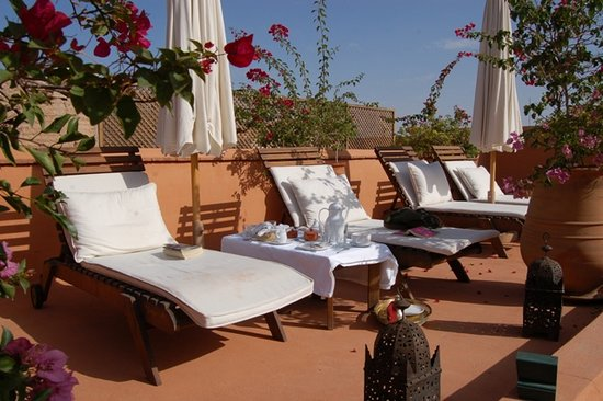 Riad Hayati: Breakfast on the roof terrace