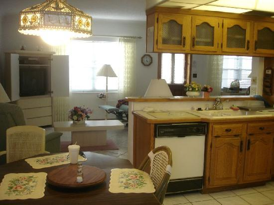 Deerfield Buccaneer Resort Apartments: dishwasher and tv unit 7