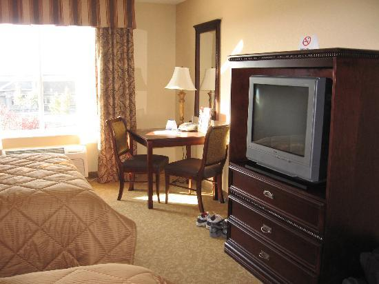 Comfort Inn & Suites McMinnville: tv and table