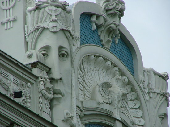 Art nuveau architecture in Riga