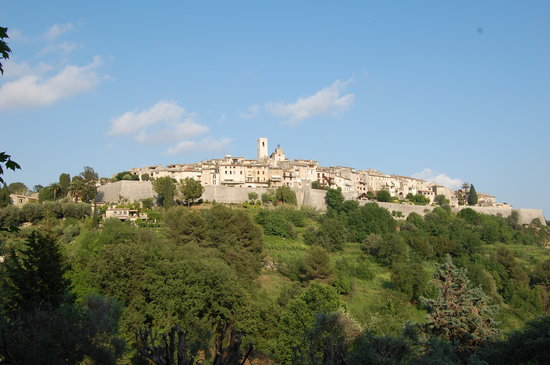 St-Paul-de-Vence, France: View of St Paul from the hotel
