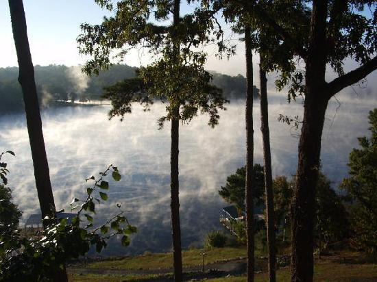 Overview Bed & Breakfast on Lake Hamilton: Mist on the Lake, viewed from the Seabiscuit Room