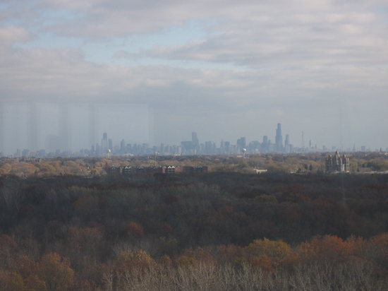 , : View of downtown Chicago from Ventannas restaurant