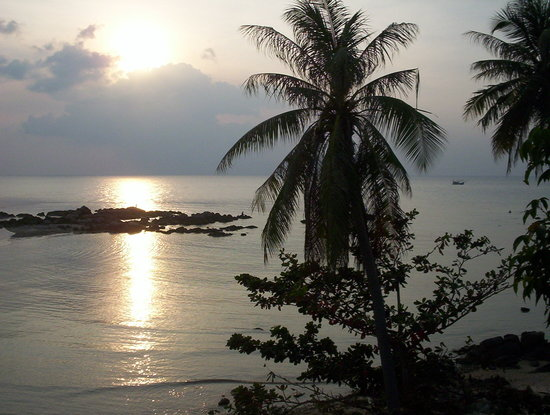 Koh Phangan, Thailand: Sunset at Hat Chaophao, Koh Pha-Ngan, Thailand