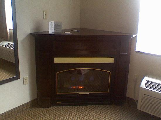 Comfort Inn Pittsfield: Fireplace in Room