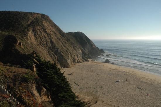 Half Moon Bay, Californië: Beach to the South