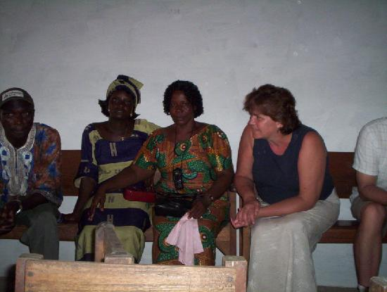 Liberia : Joe, Fatu from orphanage, Sarah and me and peter&#39;s leg 