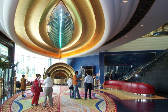 Burj Al Arab S Beautiful Posh Lobby Picture Of Skyview