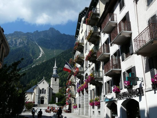 Chamonix, France : street scape 