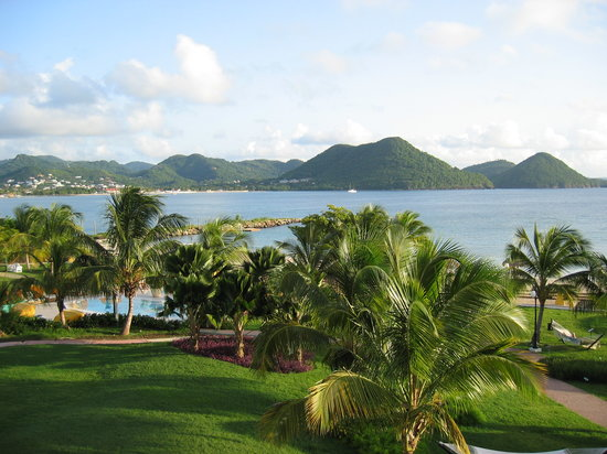 Castries, Sta. Lucía: Rodney Bay from Balcony (Sandals Grande St. Lucian)