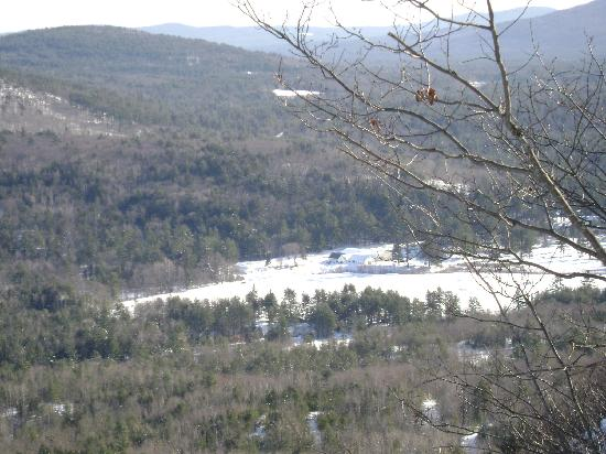 Purity Spring Resort: View from Bald Ledge snowshoe trail of a nearby farm where the sleigh rides are done
