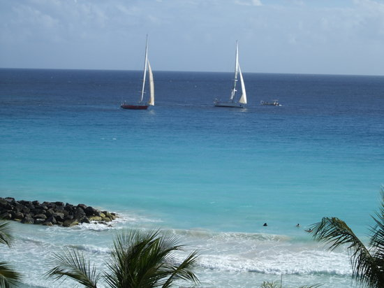 Saint Michael Parish, Barbados: View of sea from our room on second floor lighthouse tower