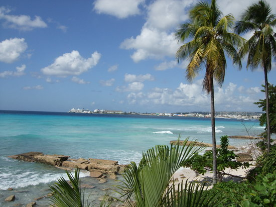 Saint Michael Parish, Barbados: View of bay from Hilton gardens