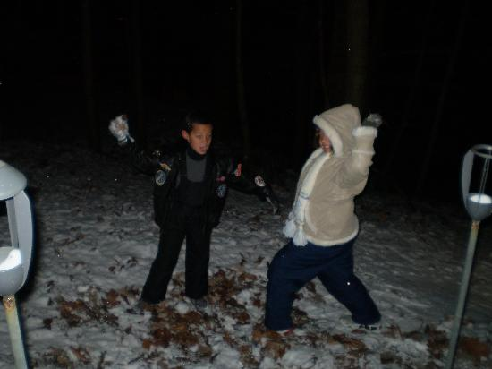 Gatlinburg Resort Chalets: Snow Ball Fight