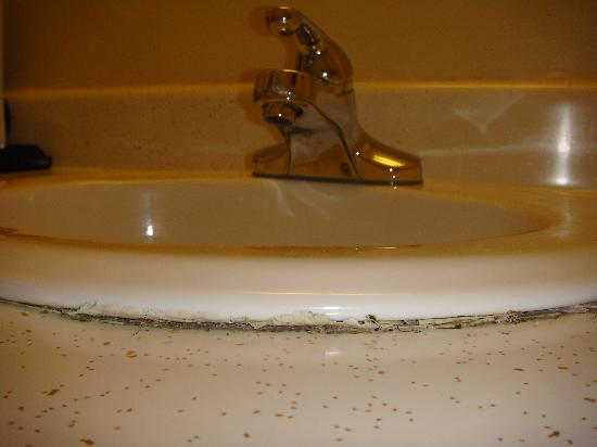Econo Lodge Killington Area: Mold filled bathroom sink.
