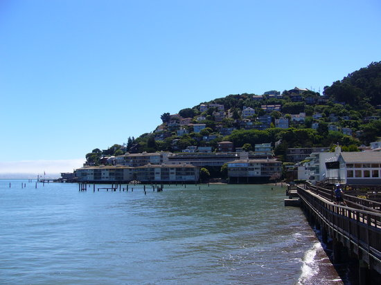 Sausalito, Californië: View from the town