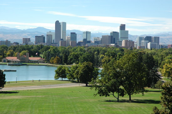 Denver Skyline taken at Denver City Park 10/2005