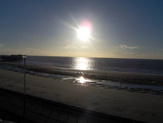 Blackpool, UK: Sunset at North Shore