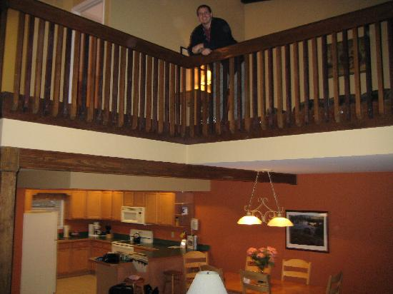 Lake Placid Club Lodges: Kitchen/Dining and Loft Above