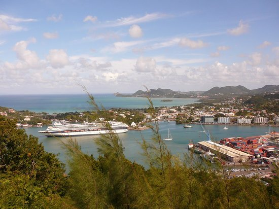 Castries, Sainte-Lucie : View