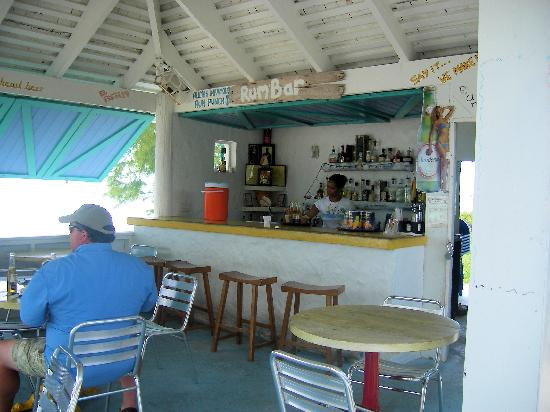 Harbour Club Villas & Marina: Hubby @ Conch Shack