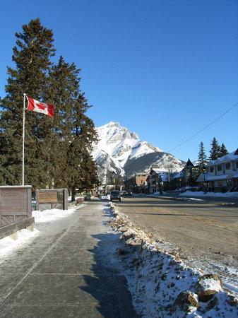 Banff Mountain Backdrop