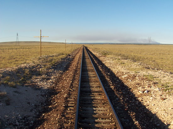 Williams, AZ: Endless views from the back of the train