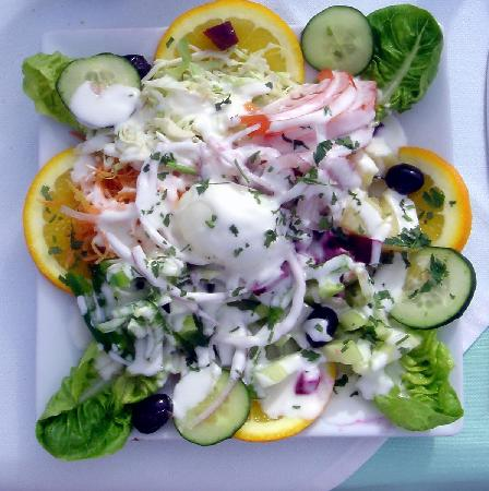 Hotel Kamal: Mixed salad from Diamante Vert