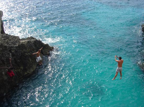 Villa Bahia: Cliff jumping in Negril if you choose