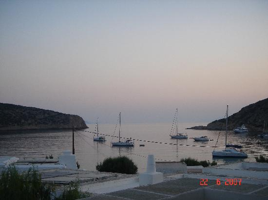 Elies Resort Sifnos: Deck View Evening 2