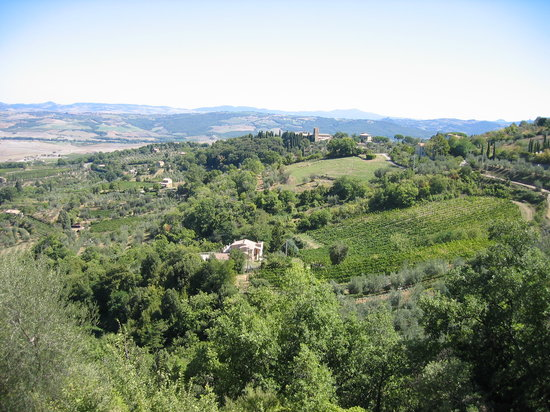 Montalcino, Italy: View from our room