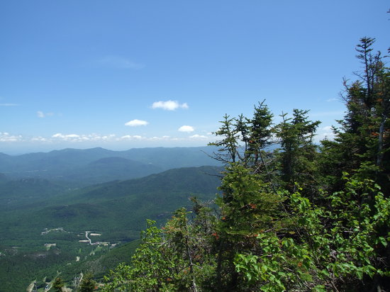 Wilmington, NY: Top of Whiteface Mtn. looking down on Ledge Rock (5000 ft)