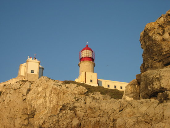 Sagres, : Lighthouse at Cape of St. Vincent