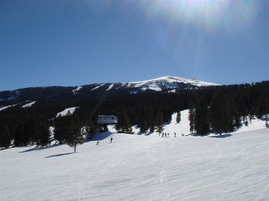 Copper Mountain, CO: Top of lift on sunny day