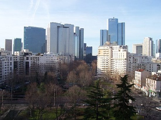 Courbevoie, France : View from room on a middle floor 