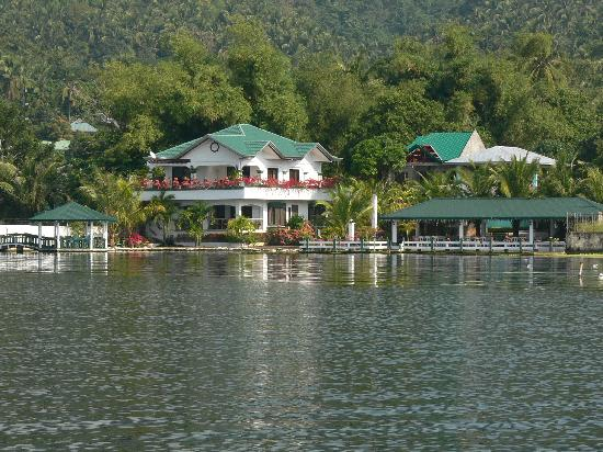 Talisay, : The resort from the water
