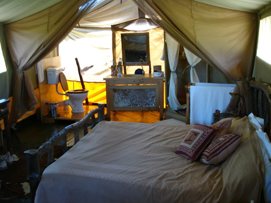 Tent interior