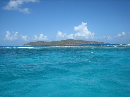 Christiansted, St. Croix: Picture of the reef and Buck Island from my jet ski