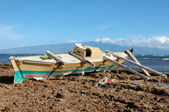 Lanai City, HI: A tinier boat that had an unfortunate end.