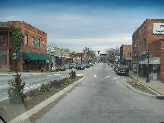 Landrum, SC: Looking down the
