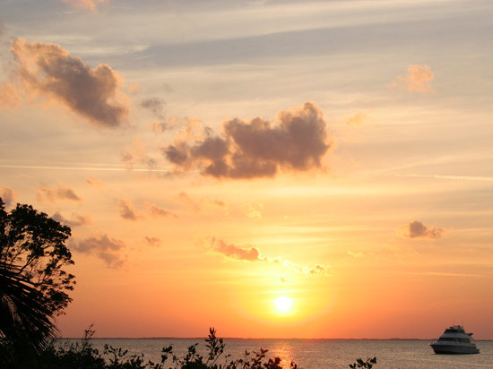 Sunset over Card Sound. Anglers Club, North Key Largo, FL