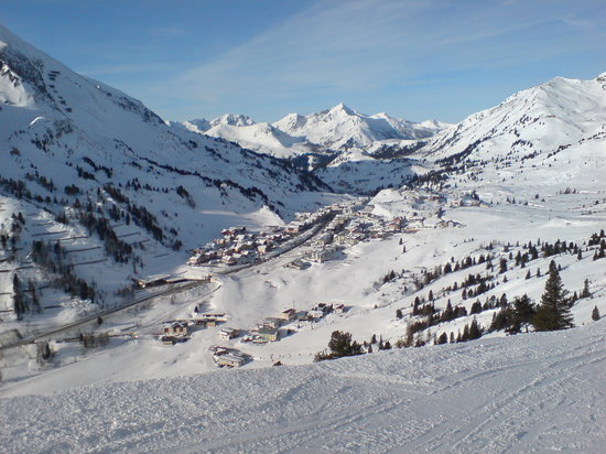 Obertauern, Austria: View of Obertauren from Blue3b