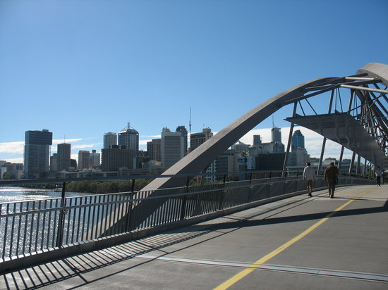 Brisbane, Australia: City from Footbridge