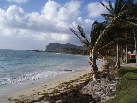 Vieux Fort, St. Lucia: Beach At CBR