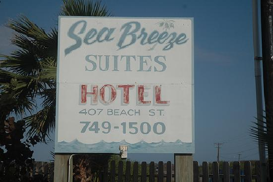 Sea Breeze Suites sign