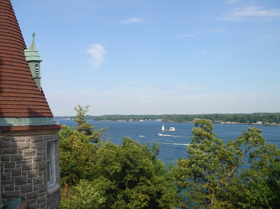 Alexandria Bay, Νέα Υόρκη: View off the top of Boldt Castle