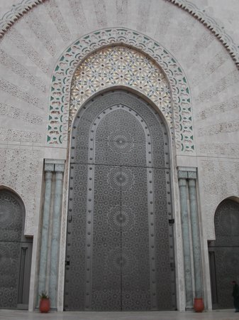 Kazablanka, Fas: A moschee's entrance door