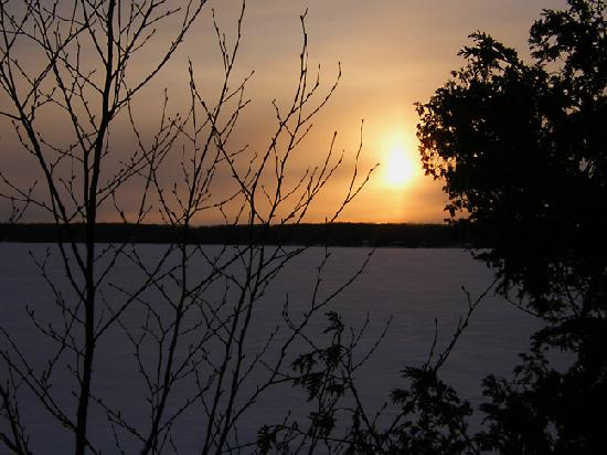 Fish Creek, WI: Sunset over a local lake